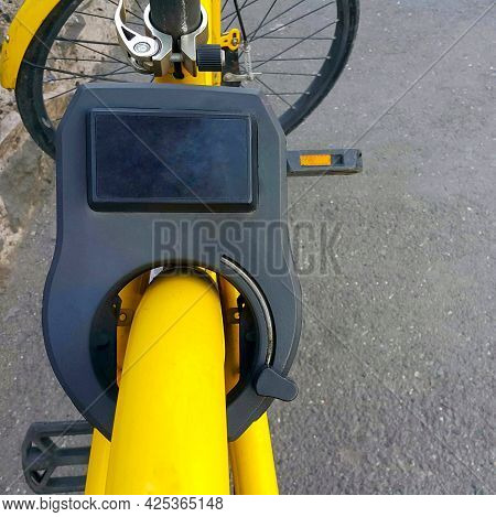 Electronic Bicycle Lock. Protection Against Theft. An Electric Key. The Vehicle.