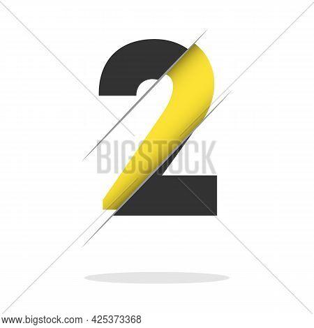Logo Number 2 Company Vector Design Template. Vector Illustration.