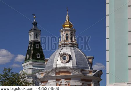 Church Of The Smolensk Mother Of God In The Trinity-sergius Lavra, Russia.