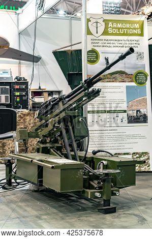 Combat Module. Combat Large-caliber Machine Gun Module With Remote Control At The International Exhi