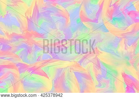 Pastel Purple And Pink Painted Background, Ink Texture, Paint Brush, Fluid. Light Template With Mult