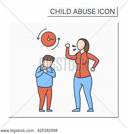 Frequent Yelling Glyph Icon. Scandal. Threatening, Bullying.humiliation With Words. Child Abuse Conc