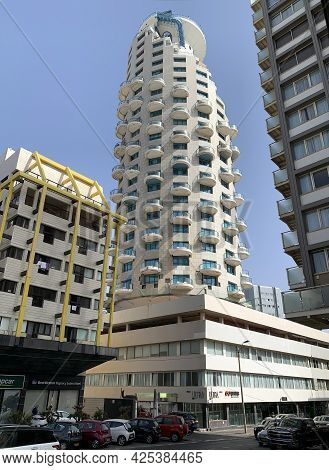 Tel-aviv, Israel - May 04, 2021: Isrotel Tower Hotel On The Waterfront Of Tel Aviv