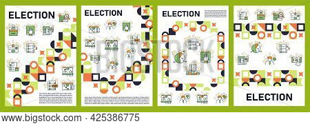 Election Brochures.voting Template. Flyers, Magazine, Poster, Book Covers, Booklets. Vote Concept. D