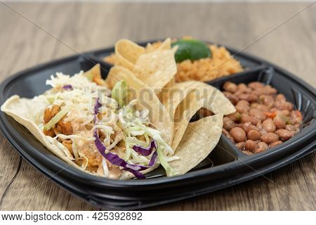Crispy Fresh Cole Slaw Fills The Fish Tacos Perfectly To Balance Out The Texture Of The Taste.