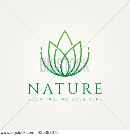 Nature Flower Minimalist Line Art Logo Template Vector Illustration Design. Simple Modern Wedding, S