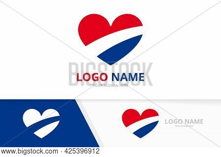 Abstract Heart Logo. Creative Kindness And Charity Logotype Design Template.