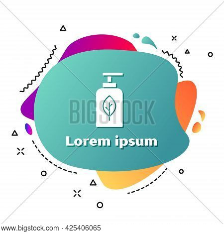 White Essential Oil Bottle Icon Isolated On White Background. Organic Aromatherapy Essence. Skin Car
