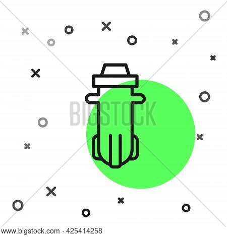 Black Line Water Filter Icon Isolated On White Background. System For Filtration Of Water. Reverse O