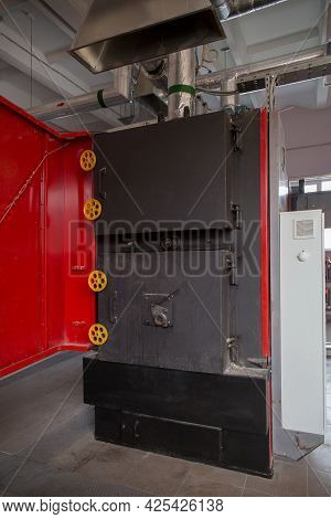 A Boiler For Heating The Premises Of A Waste Processing Factory.