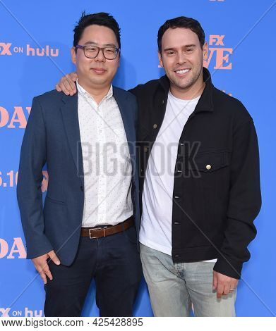 LOS ANGELES - JUN 16: James Shin and Scooter Braun arrives for the 'Dave' Season 2 Premiere on June 16, 2021 in Los Angeles, CA