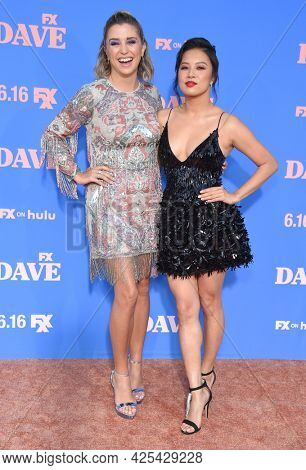 LOS ANGELES - JUN 16: Taylor Misiak and Christine Ko arrives for the 'Dave' Season 2 Premiere on June 16, 2021 in Los Angeles, CA