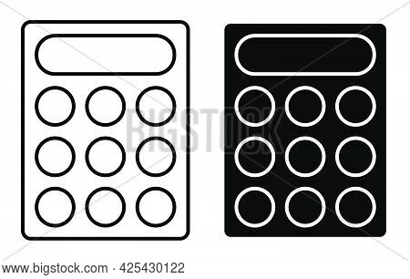 Linear Icon. Learning Tools. Calculation Of Finances And Accurate Accounting. Simple Black And White