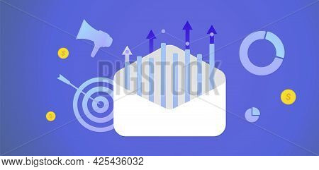 Email Marketing Campaign Concept. Drip E-marketing, Reaching Target Audience With E-mail Letter. Inb