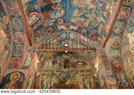 The Church Of Panagia Phorviotissa At Nikitari On Cyprus Island