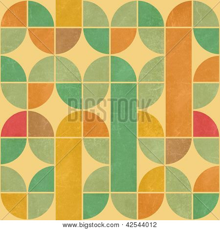 Retro abstract seamless pattern with seamless texture
