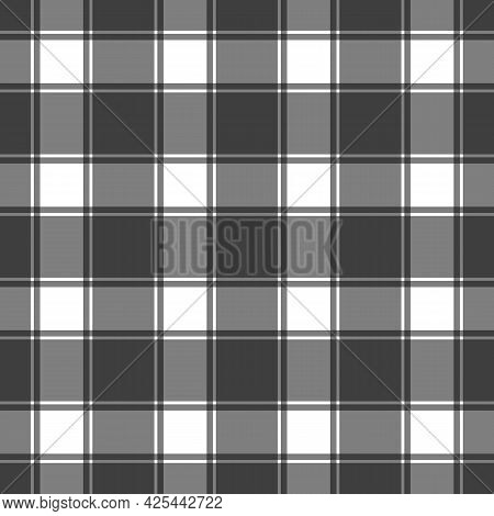 Seamless Gingham Pattern. Checkered Fabric, Textile Or Plaid Tablecloth Napkin. Square Texture, Simp