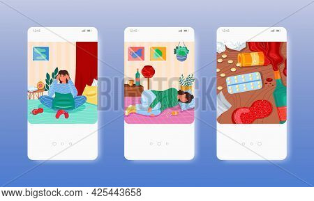 Depression. Mental Health Disorder, Anxiety. Mobile App Screens, Vector Website Banner Template. Ui,