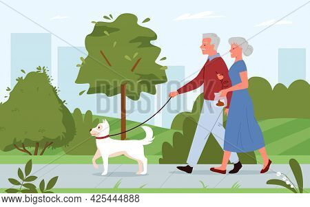 Clean Up After Your Dog Concept, People Walking With Pet, Cleaning Poop After Puppy