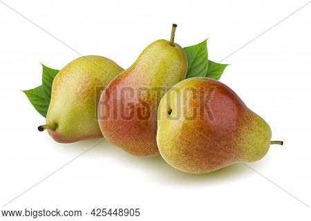 Green Pears Isolated On A White Background