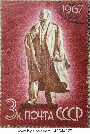RUSSIA - CIRCA 1968: stamps printed by USSR in 1967 shows portrait of Socialist leader Lenin