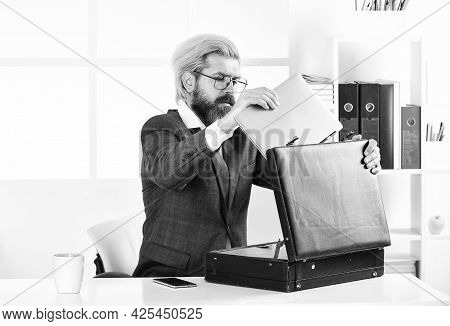 Financial Director With Suitcase. Business Attributes. Director Of Company. Experienced Director. Ex