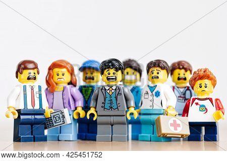 Group Of Vairous Frightened People. Illustrative Editorial. June 29, 2021