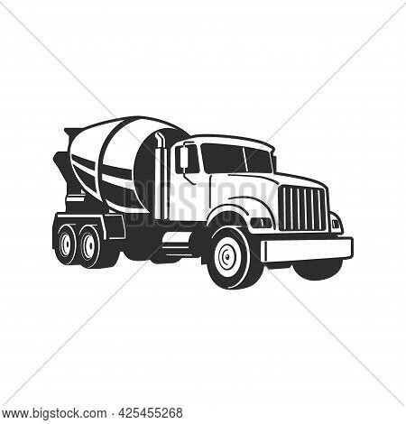 Concrete Mixer Truck. Vector Illustration. Concrete Mixer Truck. Vector Illustration. Concrete Mixer