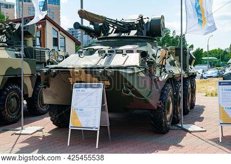 Armored Personnel Carrier. Armored Personnel Carrier Btr-3da At The International Exhibition Arms An