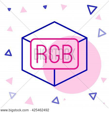 Line Rgb And Cmyk Color Mixing Icon Isolated On White Background. Colorful Outline Concept. Vector