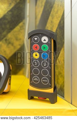 Rugged Wireless Construction Machine Control Device Buttons