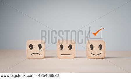 Customer Services Best Excellent Business Rating Experience. Satisfaction Survey Concept.chooses A S