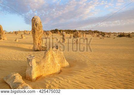 An image of the Pinnacles Desert at Nambung National Park Australia