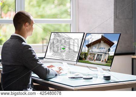 Cadastre Land Valuation Plan. City Real Estate Development