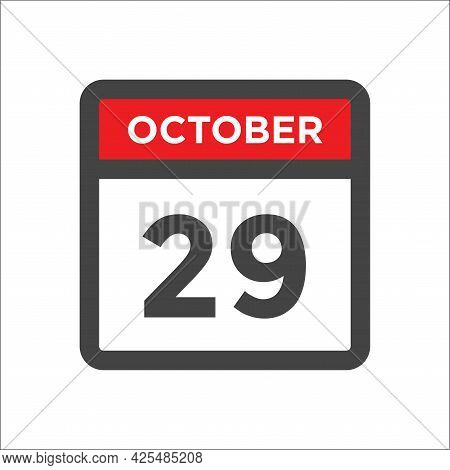 October 29 Calendar Icon - Day Of Month