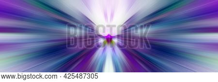 Shiny Flash Of Multi-colored Rays. Glowing Burst Of Light From A Center Point. Bright Flash Beams.