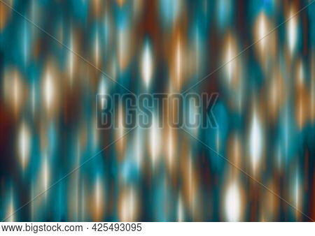 Turquoise Brown White Blue Festive Background With Blur And Gradient. Space For Graphic Design And C