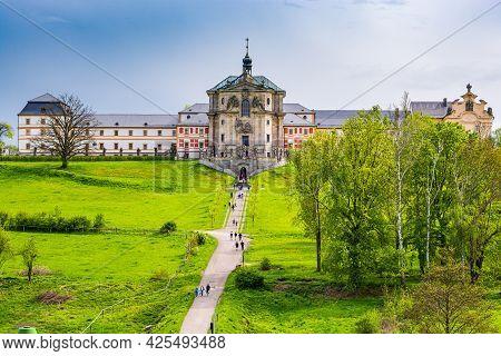 Kuks, Czech Republic - May 15, 2021. Holy Trinity Church In Spring