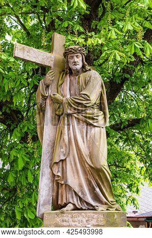 Kuks, Czech Republic - May 15, 2021. Statue Of Christ The Savior