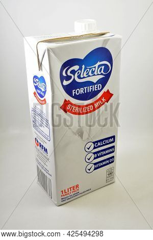 Manila, Ph - July 1 - Selecta Fortified Sterilized Milk On July 1, 2021 In Manila, Philippines.