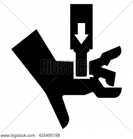 Hand Crush Force From Above Symbol Sign Isolate On White Background,vector Illustration Eps.10