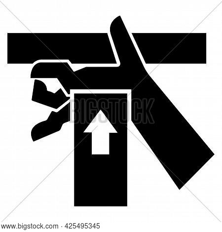 Hand Crush Force From Below Symbol Sign, Vector Illustration, Isolate On White Background Label .eps