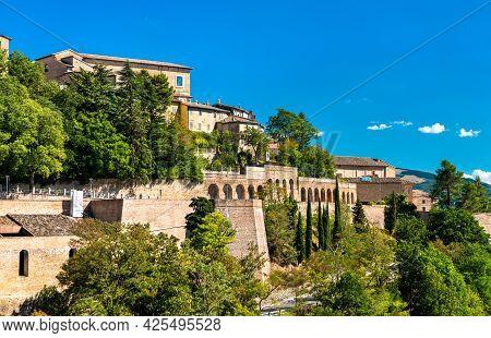 Details Of Urbino. Unesco World Heritage In Marche, Italy