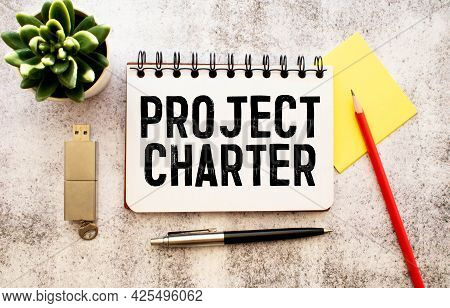 Project Charter Text On Blackboard, Business Concept Background.