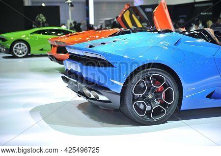 Bangkok-april 4 Lamborghini  Car At The 38th Bangkok International Motor Show 2017 On April 4, 2017