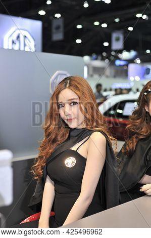 Bangkok-apil  2 Pretty At The37 Th Bangkok International Motor Show 2017 On Apil 2 2017 In Bangkok,