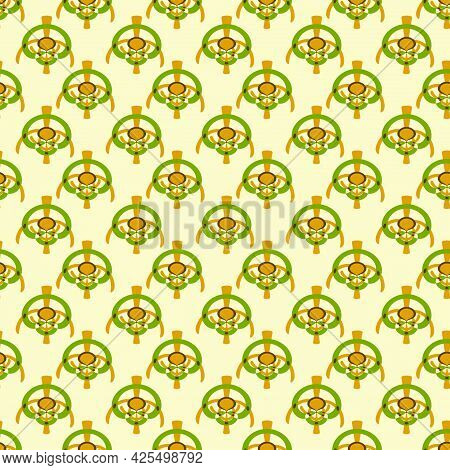 Yellow Arc, Abstraction. Seamless Pattern. For Backgrounds And Textures. Illustration.