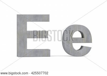 Concrete 3d Letter D - Three Dimensional Uppercase And Lowercase D Covered With Concrete Texture On