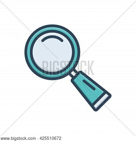 Color Illustration Icon For Find Search Quest Discovery Finding