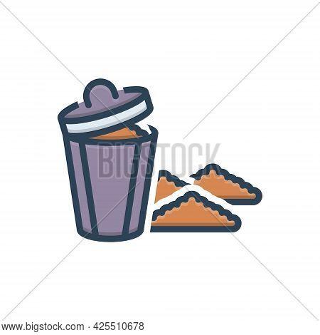 Color Illustration Icon For Garbage Rubbish Debris Filth Squalor Mephitis Dustbin
